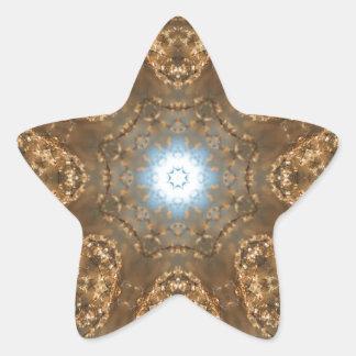 Golden Prairie Grass Kaleidoscope Star Sticker
