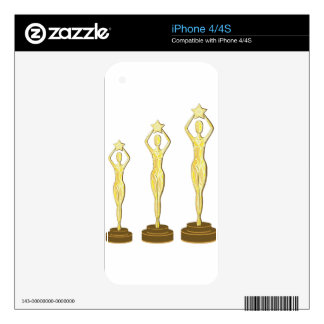 Golden Prize Decals For iPhone 4
