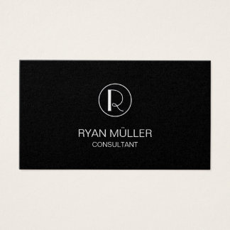 Golden Professional Chic Plain and Monogram Business Card