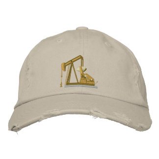 Golden Pumpjack Embroidered Baseball Cap