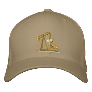 Golden Pumpjack Embroidered Baseball Hat