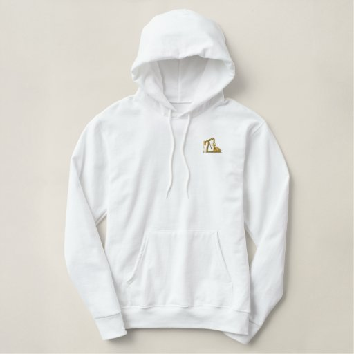 Golden Pumpjack Embroidered Hoodie