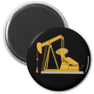 Golden Pumpjack Magnet