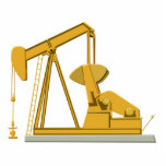 "Golden Pumpjack Statuette<br><div class=""desc"">Golden Pumpjack</div>"