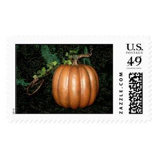 Golden Pumpkin Postage Stamp