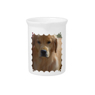 Golden Pup Drink Pitcher