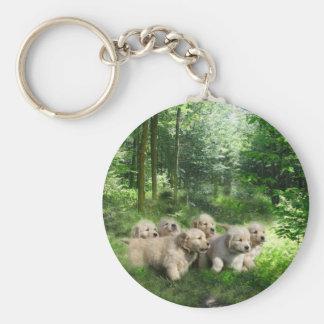 Golden Puppies Keychain