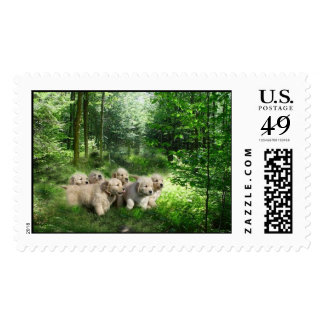Golden Puppies Postage
