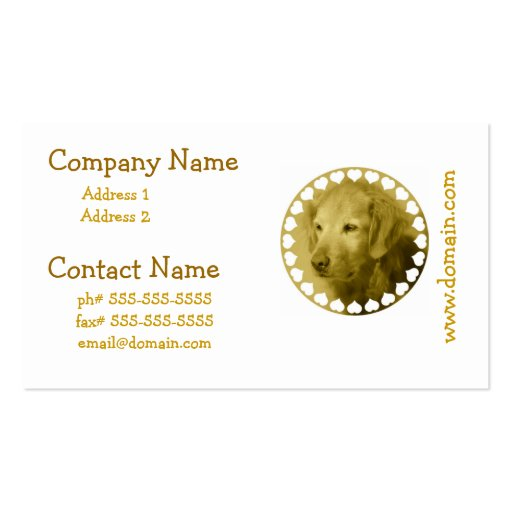 Golden Puppy Business Cards