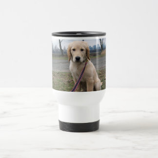 Golden Puppy by The Reservoir Travel Mug