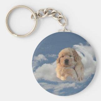 Golden Puppy Keychain Heavenly