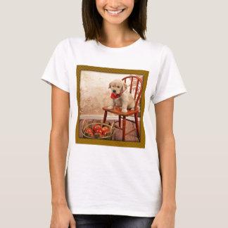 Golden Puppy on Chair T-Shirt