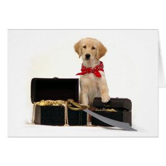 Golden Puppy Pirate Card