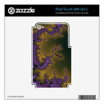 Golden Purple iPod Touch 4G Decals