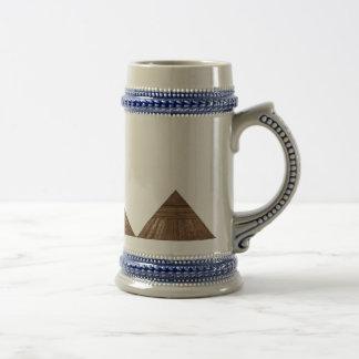 Golden Pyramid Fractal Art Beer Stein