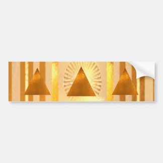 GOLDEN PYRAMIDS BUMPER STICKER
