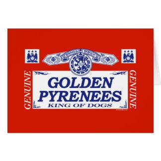 Golden Pyrenees Card