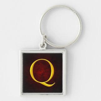 Golden Q Monogram Keychains