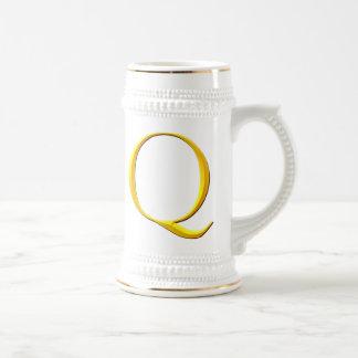Golden Q Monogram Mugs