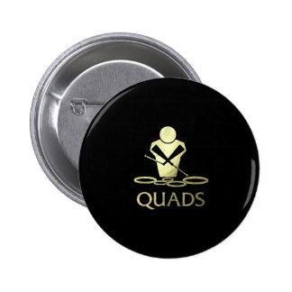 Golden Quads Pinback Button