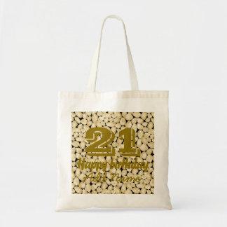 Golden quartz tote bag