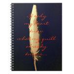 Golden quill notebook