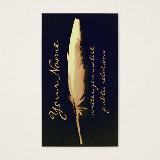 golden quill writer business card