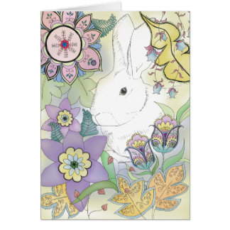Golden Rabbit Greeting Card