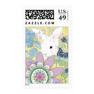 Golden Rabbit Postage Stamps