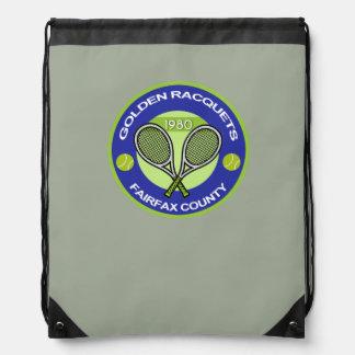 Golden Racquets Drawstring Bag