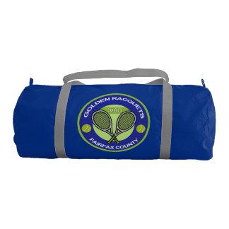 Golden Racquets Duffle Gym Bag