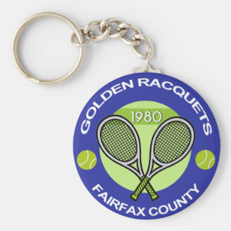 Golden Racquets Key Chain