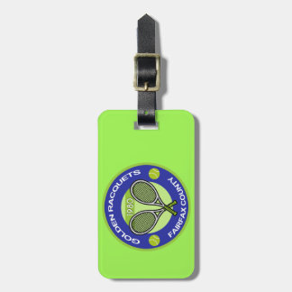 Golden Racquets Key Chain Tag For Luggage