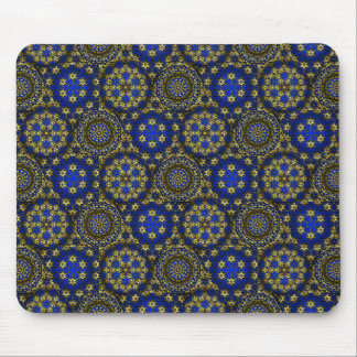 Golden Radial Net Sm Any Color Mouse Pad
