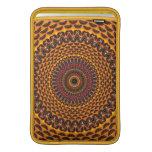 Golden Rainbow Mandala Pattern MacBook Sleeves