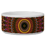 Golden Rainbow Mandala Pattern Pet Bowls
