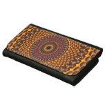 Golden Rainbow Mandala Pattern Leather Wallet For Women