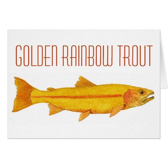 Golden Rainbow Trout. Card