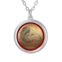 Golden Ram - Born in Sheep Year - Necklace