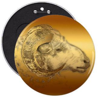 Golden Ram - Chinese astrology - Button