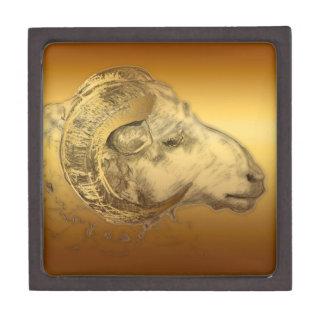 Golden Ram - Chinese New Year 2015 - Jewelry Box