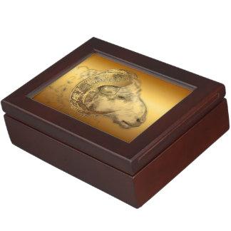 Golden Ram Chinese New Year 2015 - Keepsake Box
