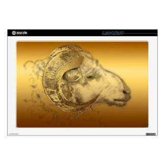 """Golden Ram - Chinese New Year 2015 - Decals For 17"""" Laptops"""