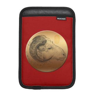 Golden Ram Chinese New Year of the Sheep 2015 iPad Mini Sleeves