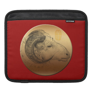Golden Ram Chinese New Year of the Sheep 2015 Sleeves For iPads