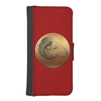 Golden Ram Chinese New Year of the Sheep 2015 iPhone SE/5/5s Wallet Case
