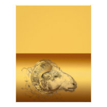 Golden Ram - Chinese New Year of the Sheep 2015 Letterhead