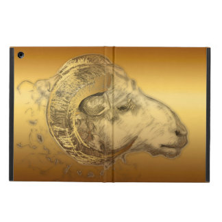 Golden Ram Chinese Zodiac Aries Sign iPad C Cover For iPad Air