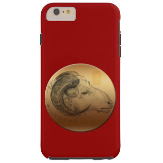 Golden Ram or Aries - Born in Sheep Year Tough iPhone 6 Plus Case