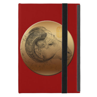 Golden Ram or Aries - Chinese + Western Astrolgy Cover For iPad Mini